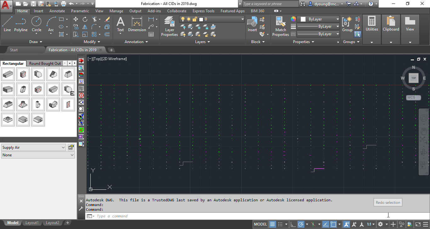 MAJ Imported into CADmep Displays Items in an Array