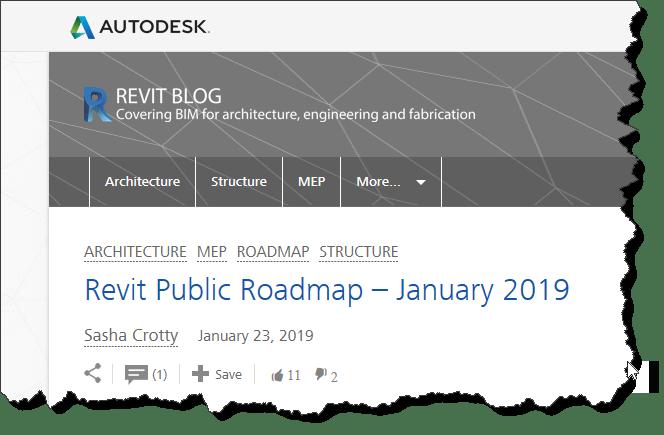 Updated Revit Roadmap - BIM there  Done that